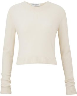 Campbell Cream Cropped Cashmere Sweater