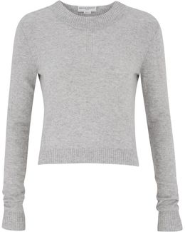 Campbell Pebble Cropped Cashmere Sweater