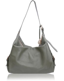Costner Olive Leather Hobo Bag