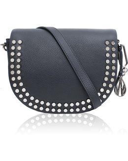 Cooper Black Leather Crossbody Bag