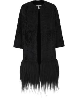 Ida Black Fur Coat