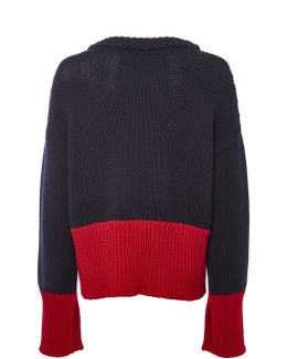 Midnight And Lipstick Knit Oversize Jumper