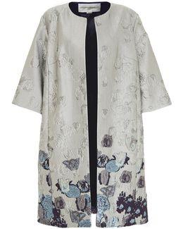 Mercury Jacquard Collarless Coat