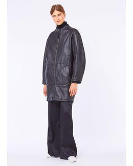 Black Reversible Silky Shearling Coat