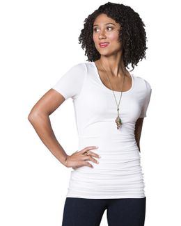 Marais Tee With Back Beautiful Technology In White
