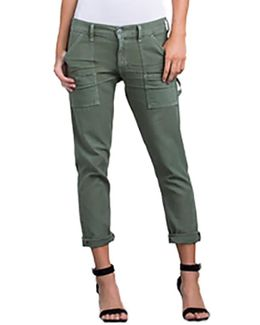 Leah Cropped Cargo Pant In Fatigue