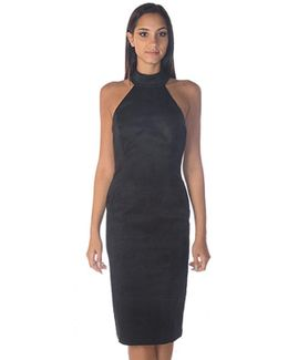 Soori Jacquard High Neck Dress In Black