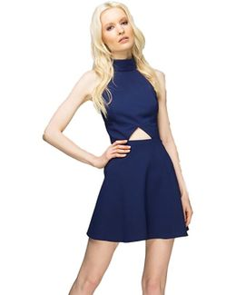 Edison Fit & Flare Dress In Eclipse