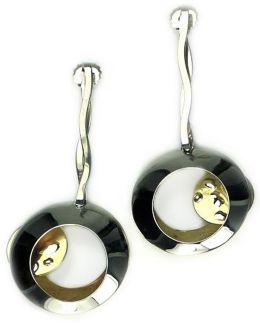 Sibilla G Side Lunar Eclipse Fashion Earrings