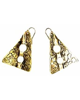 Sibilla G Oxidized Brass Gold Tone Earrings