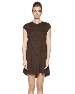 Polly Cap Sleeve A Line Dress In Currant