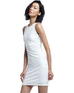 Tees Framed Mesh Dress In White