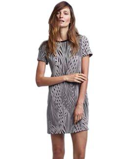 Tees Knit Short Sleeve Shift Dress In Shadow