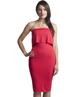 Strapless Dress In Poppy