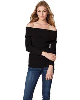 Off The Shoulder Sweater In Black