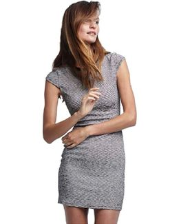 Tees Knit Cap Sleeve Dress In Blush