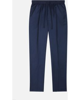 Elasticised Waist Carrot Fit Trousers