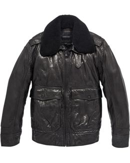 Anchorage Shearling-trimmed Aviator Jacket