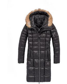 Lindsay Coyote Fur Puffer Coat
