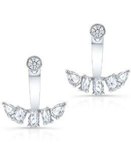 14kt White Gold Diamond Bijou Floating Earrings