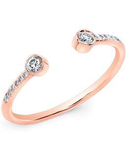 14kt Rose Gold Diamond Circuit Ring