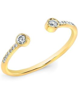 14kt Yellow Gold Diamond Circuit Ring