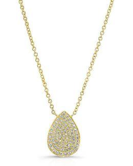 14kt Yellow Gold Diamond Medium Pear Shaped Necklace