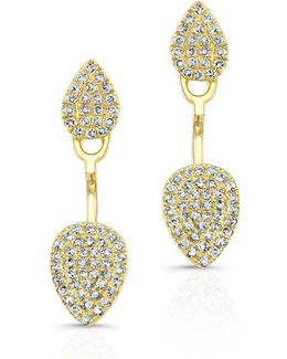 14kt Yellow Gold Pear Shaped Floating Earrings
