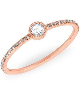 14kt Rose Gold Diamond Solitaire Ring