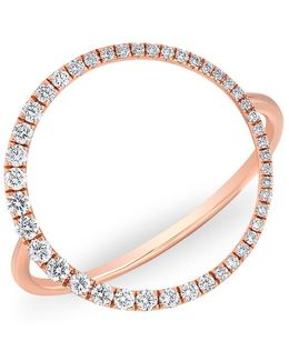 14kt Rose Gold Diamond Luxe Open Circle Ring