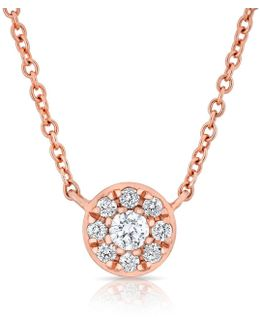14kt Rose Gold Diamond Round Addy Necklace