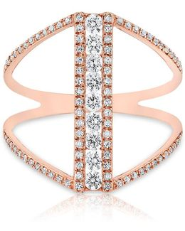 14kt Rose Gold Diamond Luxe H Ring