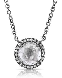 14kt Oxidized White Gold Diamond Necklace