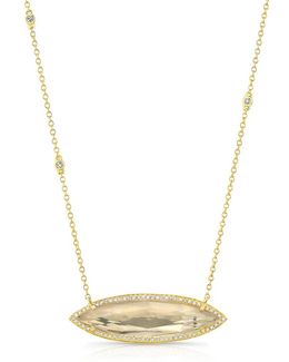 14kt Yellow Gold Triple Diamond Chain Serena Necklace