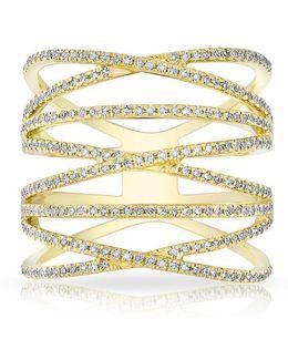14kt Yellow Gold Diamond Multiband Riverly Ring