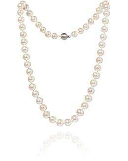 Classic 8mm White Pearl Necklace