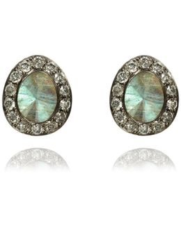 Dusty Diamonds Labradorite Stud Earrings