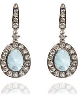 Dusty Diamonds Aquamarine Earrings