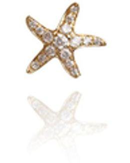 Love Diamonds Starfish Stud Earring