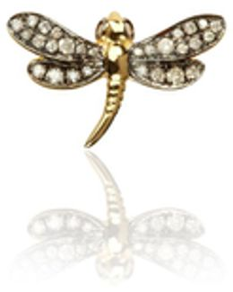 Love Diamonds Dragonfly Left Earring