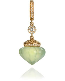 Touch Wood Prehnite Charm