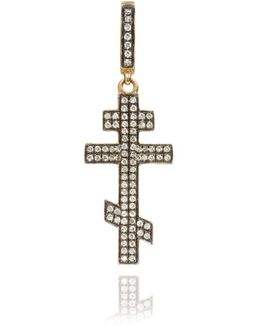 Touch Wood Diamond Cross Charm