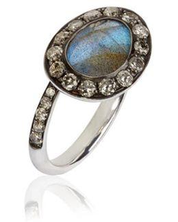 Dusty Diamonds Labradorite Side Ring-l