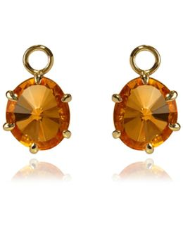 Citrine Earring Drops
