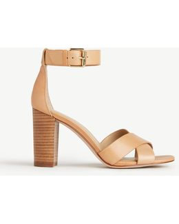 Gigi Leather Block Heel Sandals