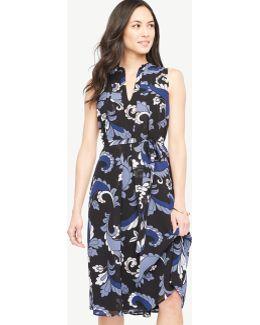 Paisley Flare Midi Dress