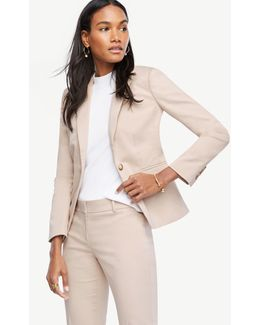 Tall Cotton Sateen One Button Jacket