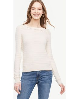 Petite Scallop Textured Sweater