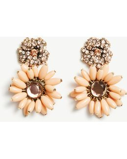 Flower Charm Statement Earrings