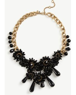 Flower Charm Statement Necklace